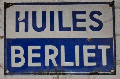 Plaque Huiles Berliet (22x30cm)