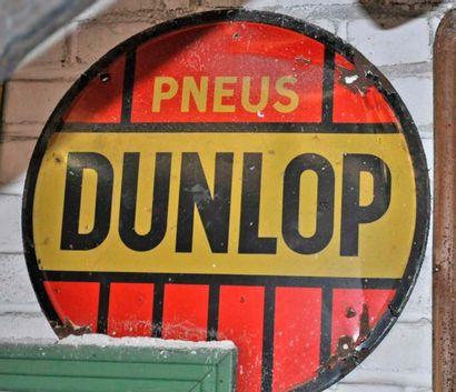 Plaque Pneus Dunlop (diam. 50cm)