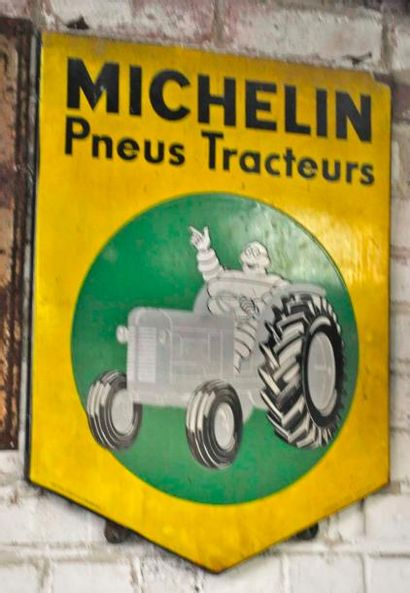 Plaque Michelin pneus tracteurs (65x50cm...