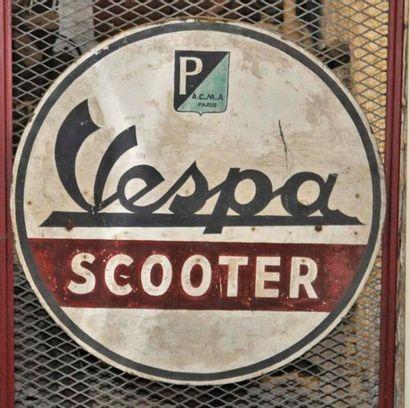 Plaque Vespa Scooter (diam 60cm environ)