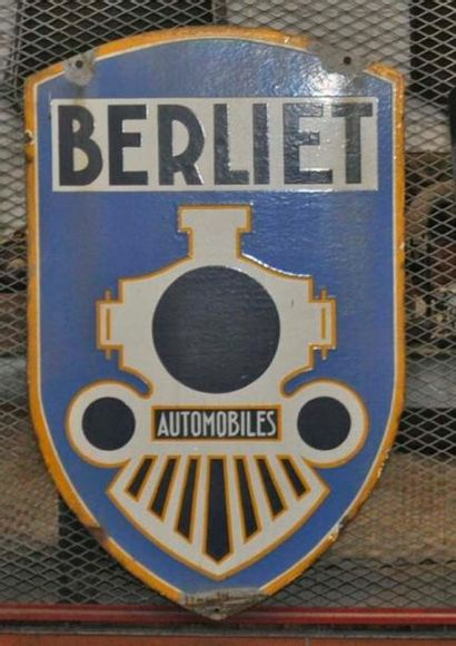 Enseigne Berliet double face (110x70 cm)...