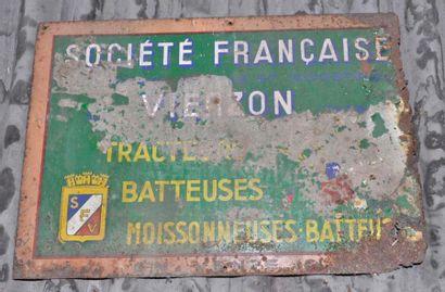 2 plaques Société française de tracteurs,...