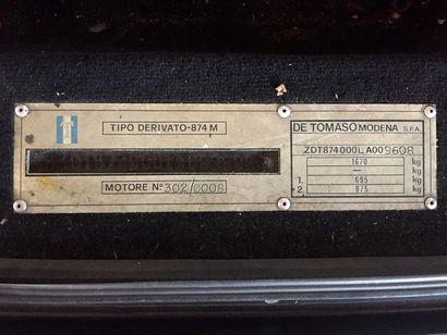 DE TOMASO PANTERA SI – 1991 N° Série: ZDT874000LA009608 La dernière Pantera nommée...