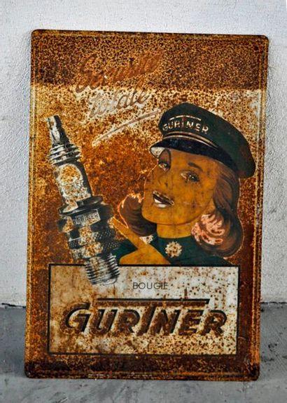 Plaque publicitaire pour les bougies Gurtner....