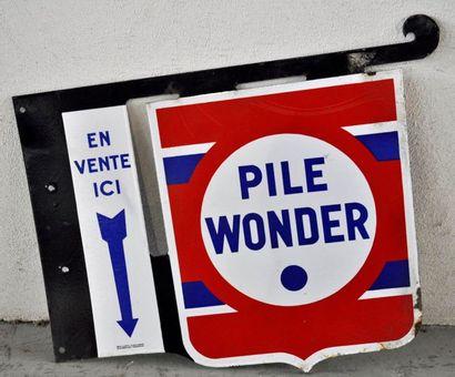 Enseigne publicitaire Pile Wonder