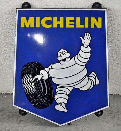 Plaque publicitaire en émail Michelin, Emaillerie...
