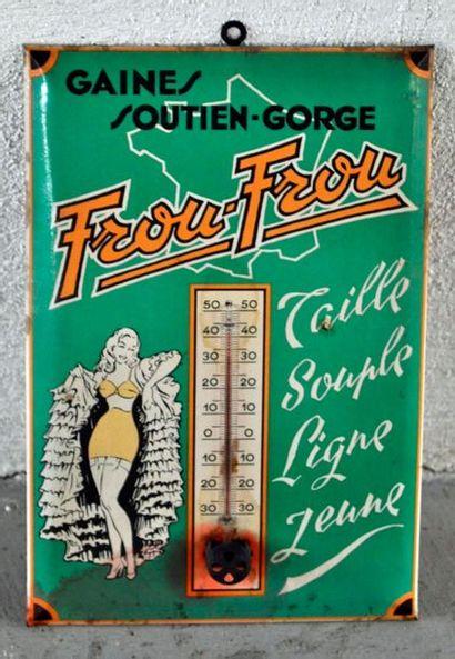 Thermomètre publicitaire gaines soutien-gorge...
