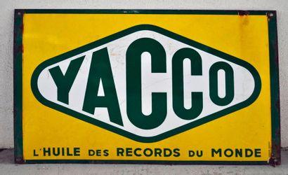 Plaque publicitaire en émail Yacco, l'huile...