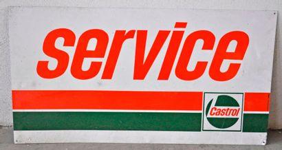 Plaque publicitaire en tôle Castrol Service...