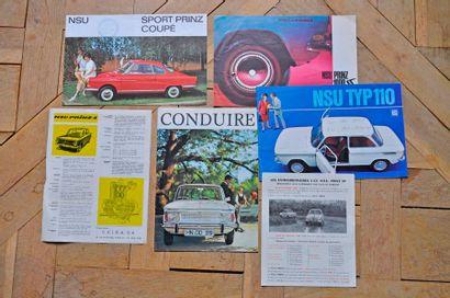 NSU. Lot de 7 brochures publicitaires : NSU...