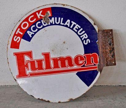 Plaque publicitaire en émail Stock accumulateurs...
