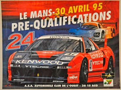 Le Mans 95. Affiche préqualifications