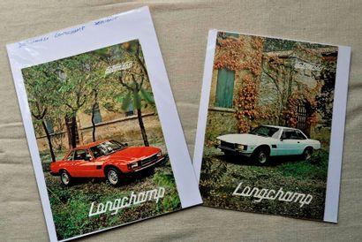Longchamp. 2 dépliants