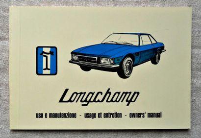 Longchamp. Catalogue d'entretien
