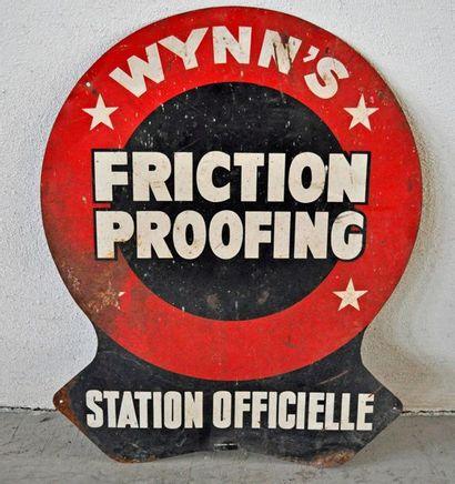 Plaque publicitaire en tôle peinte Wynn's...