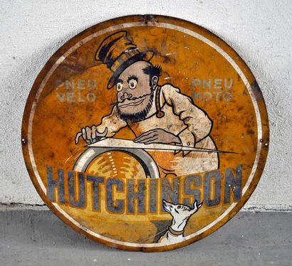 Plaque publicitaire Hutchinson pneus vélo,...