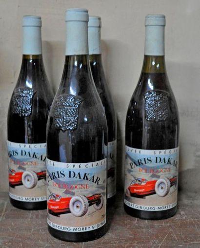 4 bouteilles de vin de Bourgogne Gibourg-...