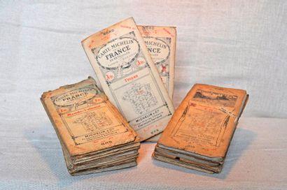 Lot de 22 cartes Michelin années 1910