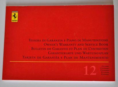 Carnet d'entretien pour Ferrari 550 Barc...