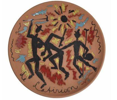 Jean COCTEAU (1889 - 1963) Ensemble complet du Satiricon, 1961 Sept Coupes Terre...