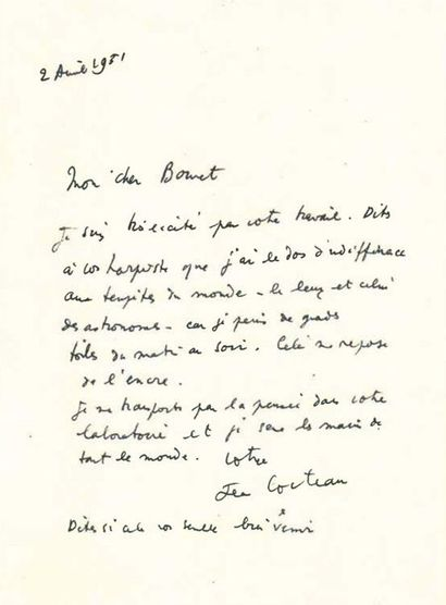 Jean COCTEAU (1889 - 1963) Judith et Holophern, 1948-1949 Gouache sur papiers signé...