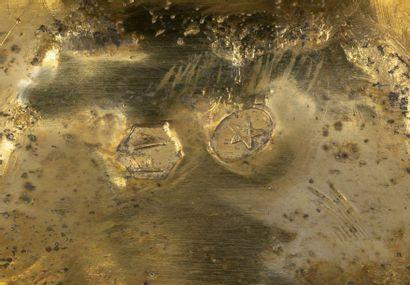 Rare suite de dix coupes à sel en forme de crabe à coquille articulée en argent,...