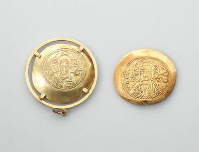 Lot : Médaille en or, 375 MM, gravée - Mexico...