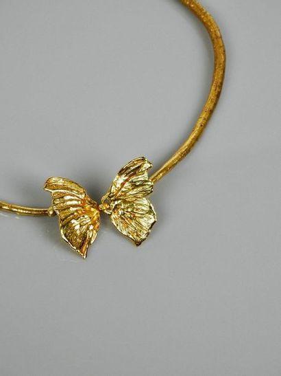 LALANNE Claude LALANNE (1924-2019) Collier Papillon petit modèle - 1986 Or 18 K Signature...