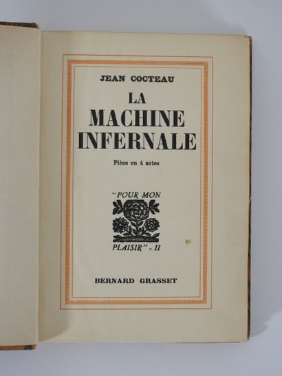 Jean Cocteau : La Machine Infernale. Grasset,...