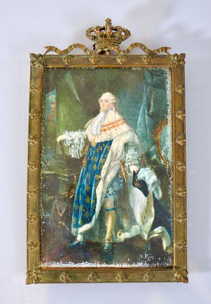 A. Roux (XIX° siècle)  Portrait de Louis...