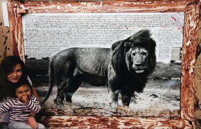 Peter Beard (1938-2020) Lion Tirage argentique...