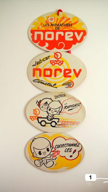 NOREV - France (1)  Suspension publicitaire cartonnée.  Composée de 4 éléments,...