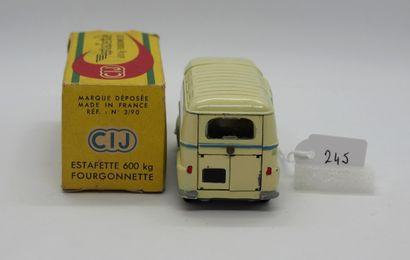 CIJ - France - 1/43e - Métal (1)  # 3/90 RENAULT ESTAFETTE  Jaune paille uni, filets...
