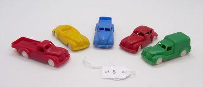 NOREV - France - 1/78e - Plastique dur (5)  Lot de 5 autos de bazar comprenant:...