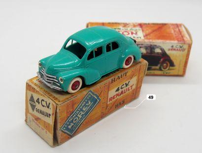 NOREV - France - 1/43e - Plastique (1)  - # 17 - 4 CV RENAULT  Turquoise, jantes...