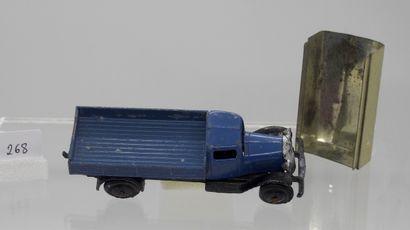 DINKY-TOYS - France - 1/43e - Métal (1)  RARE  # 25 b CAMION BÂCHÉ  Cabine bleue,...