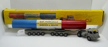 CIJ - France - 1/43e - Métal (1)  # 3/75 RENAULT 120 CV SEMI-REMORQUE PORTE-PILE...