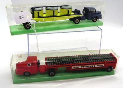 NOREV - France - 1/86e - Plastique (2)  MICRO MINIATURES  - # 523 Tracteur UNIC...
