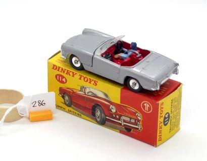 DINKY TOYS - Grande-Bretagne - Métal (1)  # 114 - TRIUMPH SPITFIRE  Gris métal,...