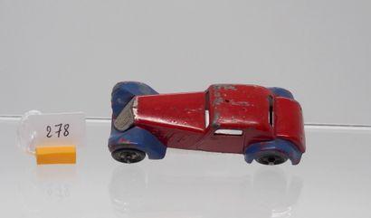 DINKY-TOYS - France - 1/43e - Plomb (1)  RARISSIME !  # 22 B COUPÉ SPORT 1934  Bicolore,...