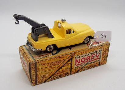 NOREV - France - 1/43e - Plastique (1)  # 34 - FORD Vedette Dépanneuse  Jaune paille...