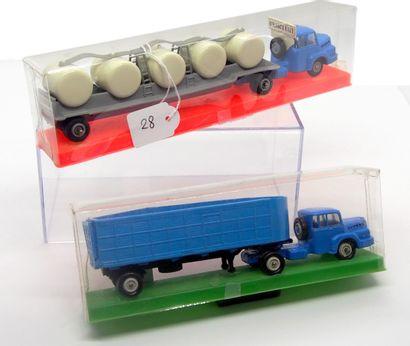 NOREV - France - 1/86e - Plastique (2)  MICRO MINIATURES  - # 524 Tracteur UNIC...