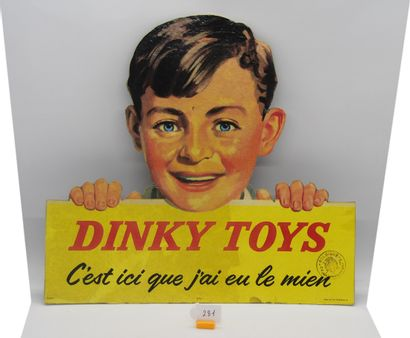 PLV DINKY-TOYS (1)  PEU COURANT  PUBLICITÉ MECCANO DESTINÉE AUX DÉTAILLANTS.  Panneau...