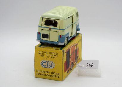 CIJ - France - 1/43e - Métal (1)  # 3/90 RENAULT ESTAFETTE  Bicolore, jaune paille...