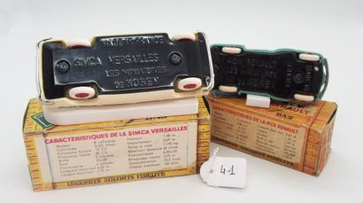 NOREV - France - 1/43e - Plastique (2)  - # 6 - SIMCA VERSAILLES  Bicolore beige...