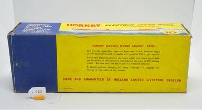 """MECCANO - HORNBY - Grande-Bretagne - Plastique (1)  CANOT ÉLECTRIQUE """"CAPRI""""  Rouge..."""