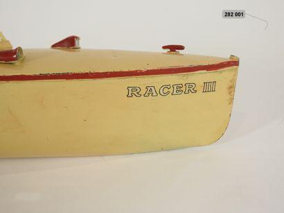 "MECCANO - HORNBY - France - Métal (1) TRES RARE CANOT DE COURSE ""RACER III"" Modèle..."