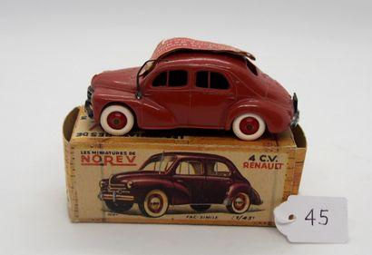 NOREV - France - 1/43e - Plastique (1)  - # 5 - 4 CV RENAULT  Marron, jantes rouge,...