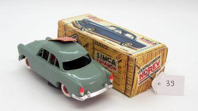NOREV - France - 1/43e - Plastique (1)  # 7 - SIMCA TRIANON  Verte, jantes rouge,...