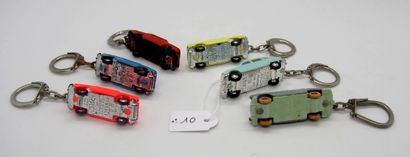 NOREV - France - 1/86e - Plastique (6)  PORTE-CLES MICRO MINIATURES comprenant:...